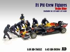 Figures diorama - Team Blue #1 2020 blue-purple - 1:18 - American Diorama - 76552 - AD76552 | The Diecast Company