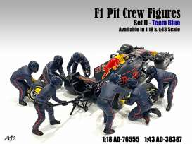 Figures diorama - 2020 blue-purple - 1:18 - American Diorama - 76555 - AD76555 | The Diecast Company