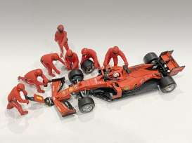 Figures diorama - Team Red #1 2020 red - 1:43 - American Diorama - 38382 - AD38382 | The Diecast Company