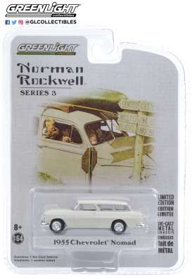 Chevrolet  - Normad 1955 white - 1:64 - GreenLight - 54040B - gl54040B | The Diecast Company