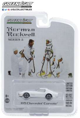 Chevrolet  - Corvette 1971 white - 1:64 - GreenLight - 54040E - gl54040E | The Diecast Company