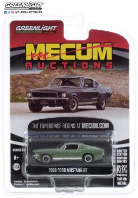 Ford  - Mustang 1968 green/grey - 1:64 - GreenLight - 37210A - gl37210A | The Diecast Company