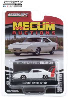 Dodge  - Charger 1969 white/red - 1:64 - GreenLight - 37210B - gl37210B | The Diecast Company