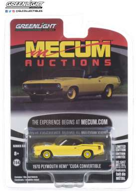 Plymouth  - HEMI Cuda 1970 yellow - 1:64 - GreenLight - 37210C - gl37210C | The Diecast Company