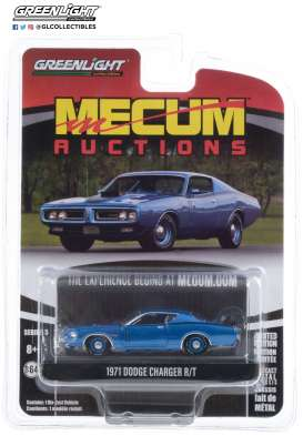 Dodge  - Charger 1971 blue - 1:64 - GreenLight - 37210D - gl37210D | The Diecast Company