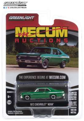 Chevrolet  - Nova 1972 green - 1:64 - GreenLight - 37210E - gl37210E | The Diecast Company