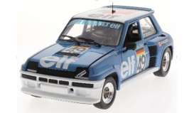 Renault  - 5 Turbo 1981 blue/white - 1:18 - Solido - 1801307 - soli1801307 | The Diecast Company
