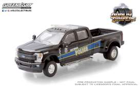Ford  - F-350 2019 black/blue - 1:64 - GreenLight - 46050F - gl46050F | The Diecast Company
