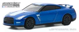 Nissan  - GT-R 2015 blue/white - 1:64 - GreenLight - 28040D - gl28040D | The Diecast Company