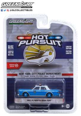 Plymouth  - Gran Fury 1982 blue/white - 1:64 - GreenLight - 42950B - gl42950B | The Diecast Company