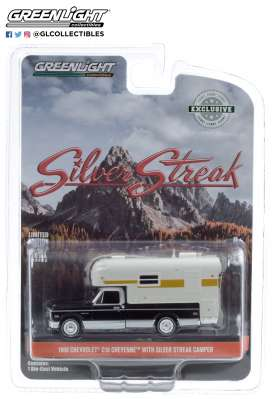 Chevrolet  - C-10 1969 black/white/silver - 1:64 - GreenLight - 30190 - gl30190 | The Diecast Company