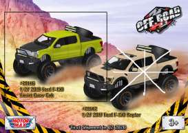 Ford  - F-150 *Off Road* 2019 green - 1:27 - Motor Max - 79146 - mmax79146gn | The Diecast Company