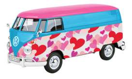 Volkswagen  - Type 2 blue/pink/purple - 1:24 - Motor Max - 79581 - mmax79581 | The Diecast Company