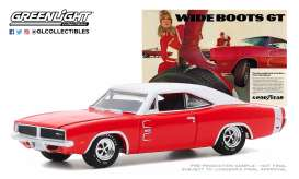 Dodge  - Charger 1969 red/white - 1:64 - GreenLight - 30196 - gl30196 | The Diecast Company