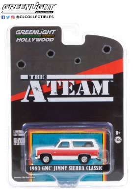 GMC  - Jimmy 1983 white/red - 1:64 - GreenLight - 44865E - gl44865E | The Diecast Company