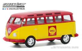 Volkswagen  - Samba 1964 red/yellow - 1:64 - GreenLight - 30000B - gl30000B | The Diecast Company
