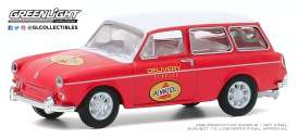 Volkswagen  - Type 3 1965 red - 1:64 - GreenLight - 30000C - gl30000C | The Diecast Company