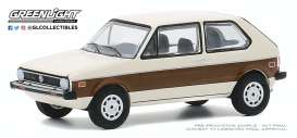 Volkswagen  - Rabbit 1977 cream/brown - 1:64 - GreenLight - 30000E - gl30000E | The Diecast Company