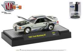Ford  - Mustang 1987 white/black - 1:64 - M2 Machines - 31500HS07 - M2-31500HS07 | The Diecast Company