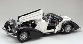Horch  - 855 Roadster 1939 black/white - 1:18 - SunStar - 2405 - sun2405 | The Diecast Company