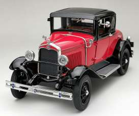 Ford  - Model A Coupe 1931 aurora red/ andolusite blue - 1:18 - SunStar - 6137 - sun6137 | The Diecast Company