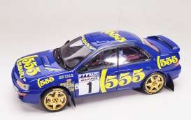 Subaru  - Impreza 555 #1 1996 blue - 1:18 - SunStar - 5516 - sun5516 | The Diecast Company