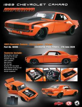 Chevrolet  - Camaro *Inferno* 1969 orange/black - 1:18 - Acme Diecast - 18906 - acme18906 | The Diecast Company