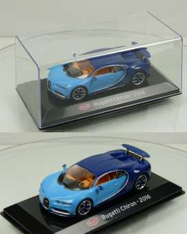 Bugatti  - Chiron 2016 light blue/blue - 1:43 - Magazine Models - magSCChiron | The Diecast Company