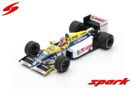 Williams  - FW11 1986 white/blue/yellow - 1:43 - Spark - s7480 - spas7480 | The Diecast Company