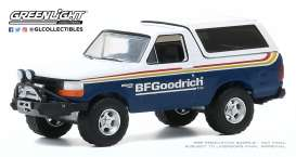 Ford  - Bronco 1992 blue/white - 1:64 - GreenLight - 35170E - gl35170E | The Diecast Company
