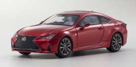 Lexus  - RC350h red - 1:43 - Kyosho - 0369RR - kyo3697r | The Diecast Company