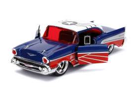 Chevrolet  - Bel Air *Falcon* 1957 blue/red/white - 1:32 - Jada Toys - 31762 - jada31762 | The Diecast Company