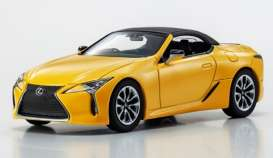 Lexus  - LC Convertible 1997 naples yellow - 1:43 - Kyosho - 3902y - kyo3902y | The Diecast Company