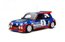 Renault  - Maxi 5 Turbo blue/red/white - 1:12 - OttOmobile Miniatures - G038 - ottoG038 | The Diecast Company