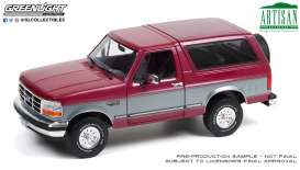 Ford  - Bronco 1996 burgundy/silver - 1:18 - GreenLight - 19095 - gl19095 | The Diecast Company