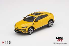 Lamborghini  - Urus 2019 yellow - 1:64 - Mini GT - 00113 - MGT00113rhd | The Diecast Company