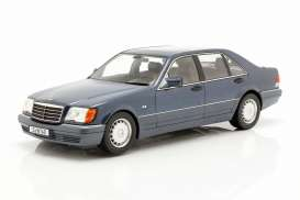 Mercedes Benz  - S500 blue/grey - 1:18 - iScale - 1180000049 - iscale1180049 | The Diecast Company