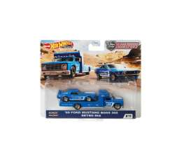 Ford  - Mustang Boss 302 & Retro Rig 1969 blue/white - 1:64 - Hotwheels - GJT38 - hwmvGJT38 | The Diecast Company