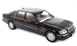 Mercedes Benz  - S600 1997 black - 1:18 - Norev - 183722 - nor183722 | The Diecast Company