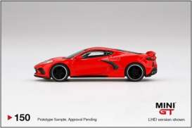 Chevrolet  - Corvette red - 1:64 - Mini GT - 00150 - MGT00150rhd | The Diecast Company
