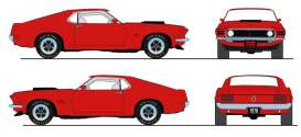 Ford  - Boss 429 Mustang 1970 candy red - 1:18 - Acme Diecast - 1801836NC - acme1801836NC | The Diecast Company