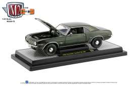 Chevrolet  - Camaro 1969 green/black - 1:24 - M2 Machines - 40300-75B - M2-40300-75B | The Diecast Company