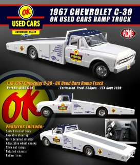 Chevrolet  - C-30 Ramp Truck 1967 white - 1:18 - Acme Diecast - 1801705 - acme1801705 | The Diecast Company