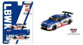 Nissan LB Works - GT-R R35 blue/white/red - 1:64 - Mini GT - mgt00132L - MGT00132lhdmijo | The Diecast Company