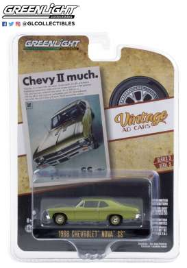 Chevrolet  - Nova 1968 green - 1:64 - GreenLight - 39050A - gl39050A | The Diecast Company