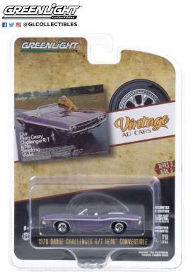 Dodge  - Challenger 1970 purple - 1:64 - GreenLight - 39050B - gl39050B | The Diecast Company