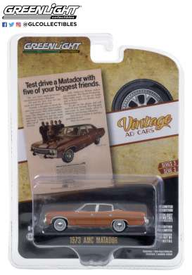 AMC  - Matador 1973 orange-brown - 1:64 - GreenLight - 39050C - gl39050C | The Diecast Company