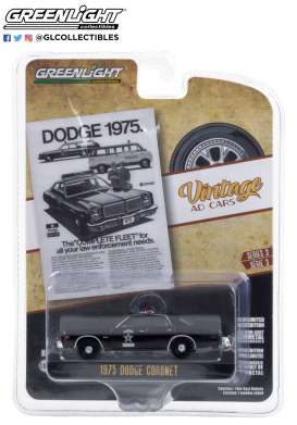 Dodge  - Coronet 1975 black - 1:64 - GreenLight - 39050D - gl39050D | The Diecast Company