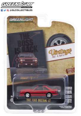 Ford  - Mustang 1982 red/black - 1:64 - GreenLight - 39050E - gl39050E | The Diecast Company