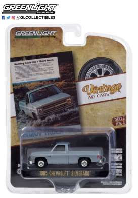 Chevrolet  - Truck 1985 blue - 1:64 - GreenLight - 39050F - gl39050F | The Diecast Company
